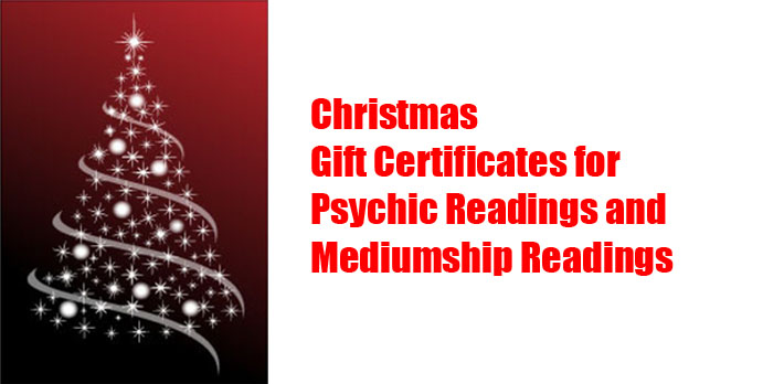 Psychic Medium Reading Gift Certificate